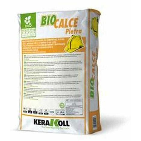 Biocalce Pietra Kerakoll Malta naturale eco-compatibile traspirante per murature 25 Kg