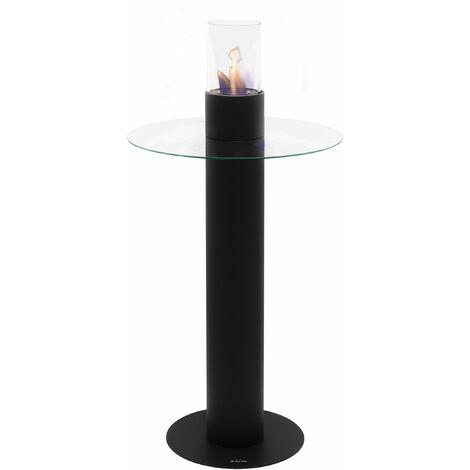 Biochimenea de suelo con mesa de cristal templado MELIA