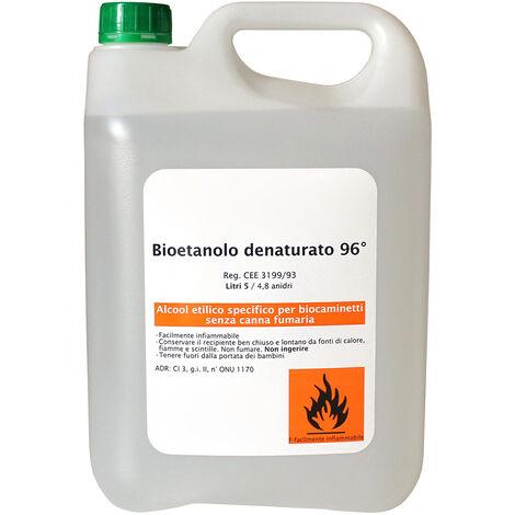 Bioetanolo 5 Litri Combustibile Ecologico Naturale Inodore