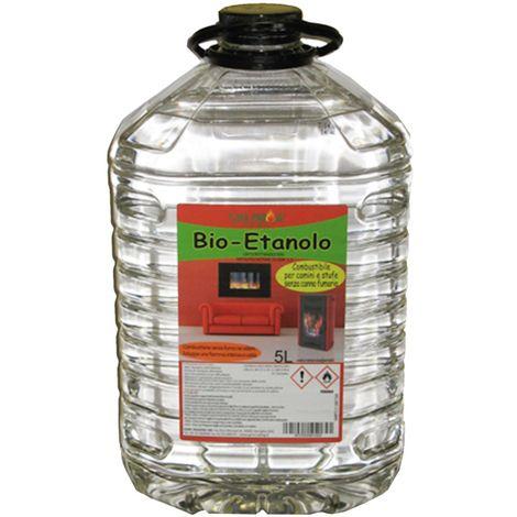 BIOETANOLO INODORE ANTIFUMO PER CAMINETTO COMBUSTIBILE BIOCAMINO STUFA (5 LT)