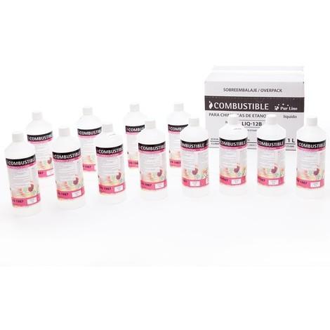 Bioéthanol Liq 12 B de PURLINE®, 12 bouteilles de bio éthanol Premium !