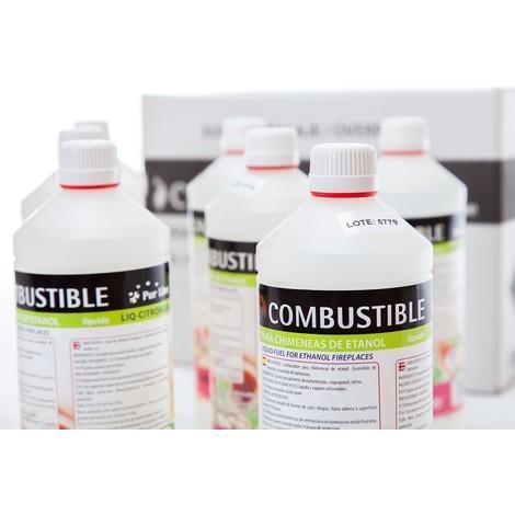Bioéthanol Liq citronnelle de PURLINE®, 12 bouteilles de 1 litres de bio éthanol avec Fragrances citronnelle Premium !