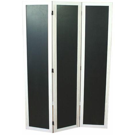Biombo de madera blanco con Memo Board Panel de 3 paneles