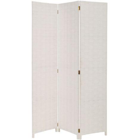 Biombo de madera blanco plegable de 120x175 cm