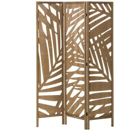 """main image of """"Biombo de madera exótico marrón plegable tallado de 170x120cm"""""""