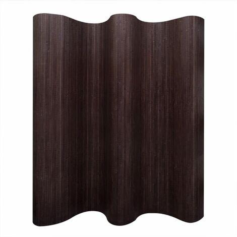 Biombo divisor bambú marrón oscuro 250x165 cm - Marrón