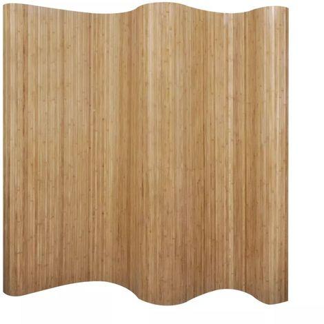 Biombo divisor bambu natural 250x165 cm