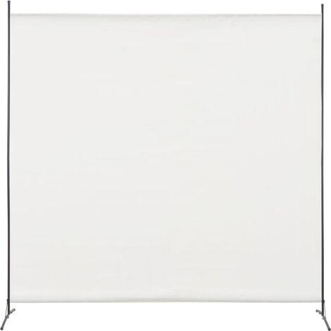 Biombo divisor de 1 panel blanco 175x180 cm