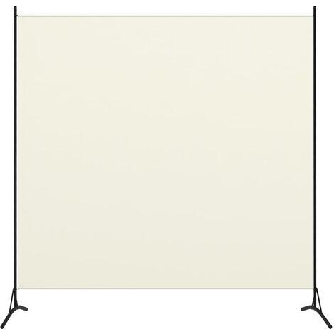 Biombo divisor de 1 panel blanco crema175x180 cm