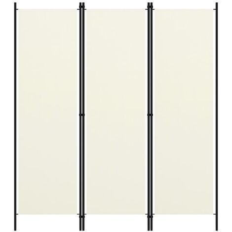 Biombo divisor de 3 paneles blanco crema 150x180 cm