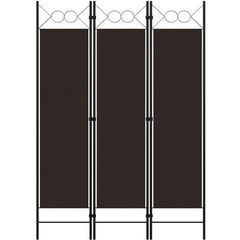 Biombo divisor de 3 paneles marron 120x180 cm