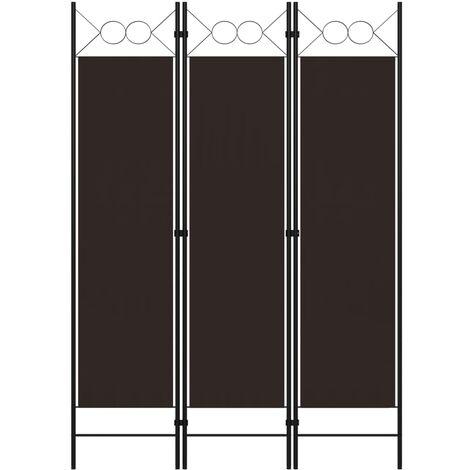 Biombo divisor de 3 paneles marrón 120x180 cm - Marrón