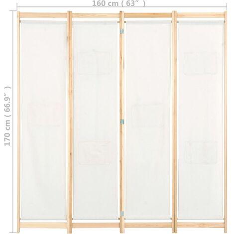 Biombo de 4 paneles