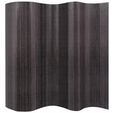 Biombo divisor de bambu gris 250x165 cm