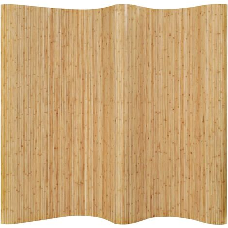 Biombo divisor de bambú natural 250x195 cm