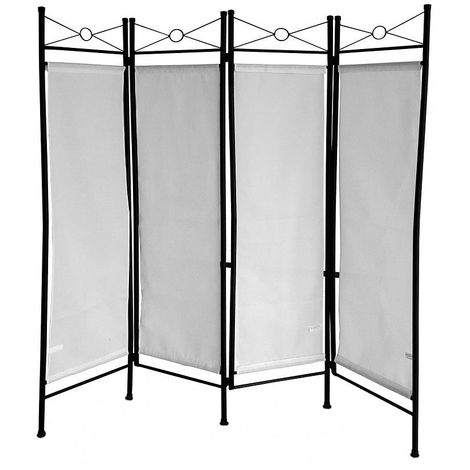 Biombo, Divisor de Habitaciones, 180 x 160 cm, Blanco, Panel: 100% Poliéster