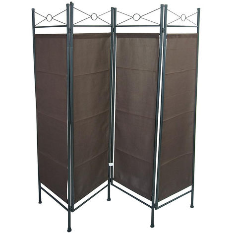 Biombo, Divisor de Habitaciones, 180 x 160 cm, Marrón, Panel: 100% Poliéster