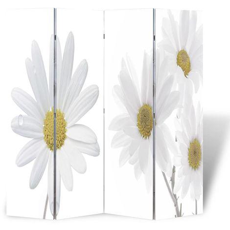 Biombo divisor plegable 160x170 cm flores