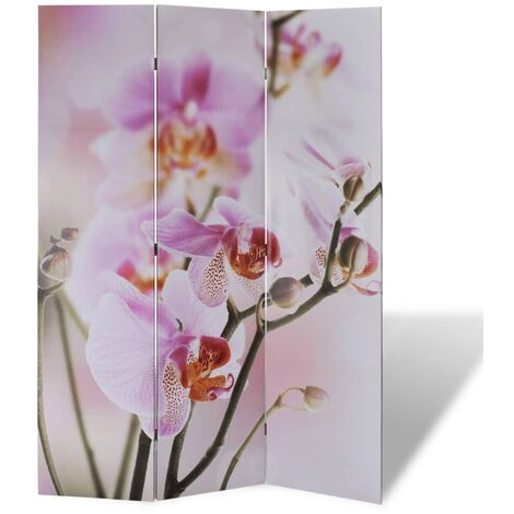 Biombo divisor plegable flores 120x170 cm - Multicolor