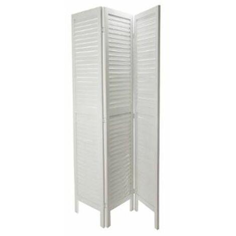Biombo Estilo Barroco en Blanco 3 paneles de 40 cm x Altura 170 cm
