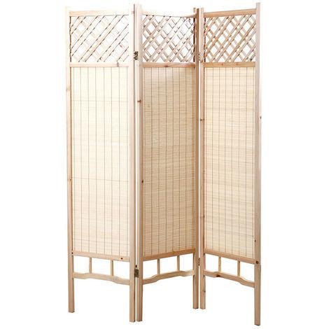 Biombo japonés pino y bambú NEW NIHA