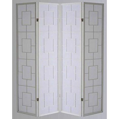 Biombo Kwai - Blanco / 4 paneles