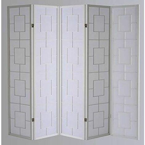 Biombo Kwai - Blanco / 5 paneles