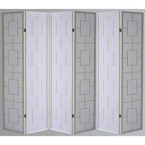 Biombo Kwai - Blanco / 6 paneles
