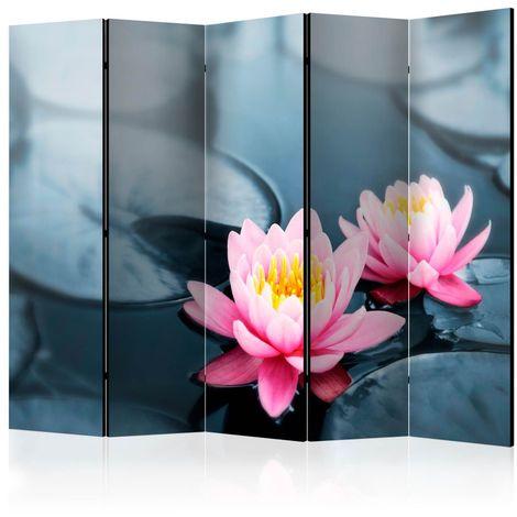 Biombo Lotus blossoms II Room Divide cm 225x172 Artgeist A1-PARAVENTtc0877