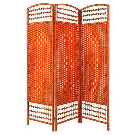 """main image of """"Biombo Separador de ambientes. Economico. Naranja de Junco Natural para decoración 170 x 120 cm - Hogar y más"""""""
