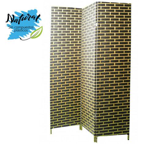 Biombo Separador de ambientes, Economico, trenzado, sobre bastidor de madera para decoración 180 x 135 cm - Hogar y más