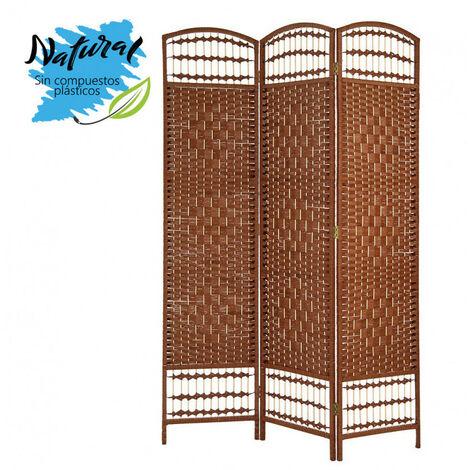 Biombo/Separador de Ambientes Grande, de Bambú, color Wengué, para Dormitorio o Salón, Decorativo 170cm -Hogar y Más