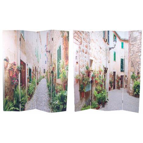 Biombo Separador de Ambientes, Grande, fotoimpresión, de 4 paneles. Para salon/comedor. 180x152 cm.