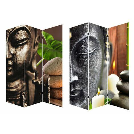 Biombo Separador de ambinetes, Mod. Buda Zen, bastidores de madera. Para el Recibidor/ Salon. 180x120 cm.