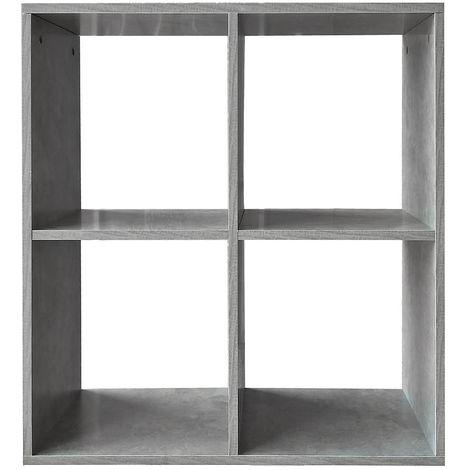 Biombo Separador de habitaciones Estante de libros 4 compartimentos Gris Estante de pie Estante de pared Separador de ambiente Oficina