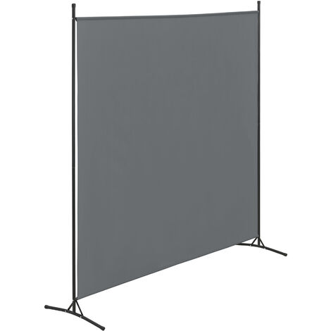 Biombo Separador Tarazona - 176 x 175 cm - Interior - Contra Visión - Mampara Lateral Protectora - Pantalla - Divisor de Habitaciones - 2 Patas de Apoyo - Gris oscuro
