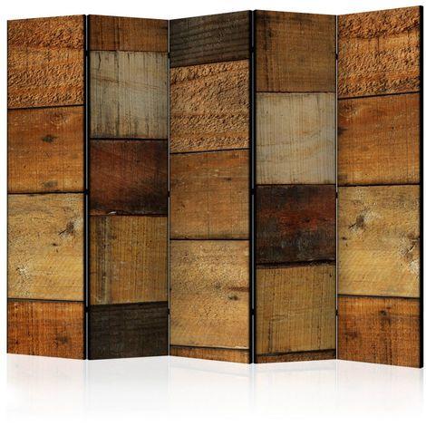 """main image of """"Biombo Wooden Textures II Room Divid cm 225x172 Artgeist"""""""