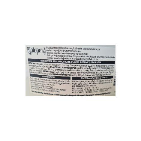 BIOTOPE BIO Engrais organo-mineral SEAU 900 grs