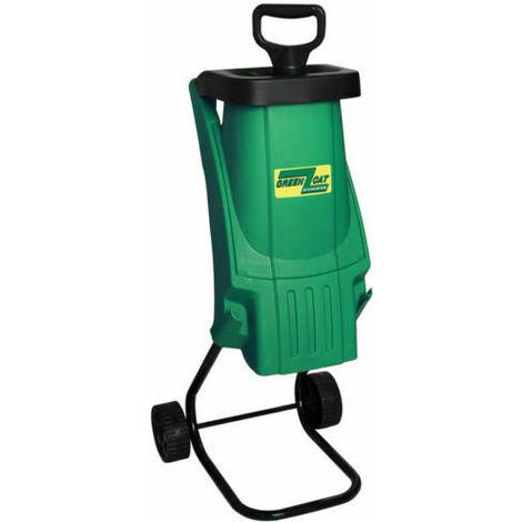 Biotrituratore elettrico Green Cat 2400W Tritone tritafoglie trita rami giardino