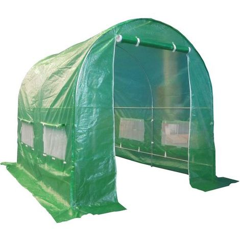 BIRCHTREE 3M (L) x 2M (W) x 2M (H) Polytunnel Greenhouse Pollytunnel Galvanised Frame