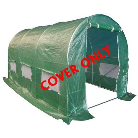 BIRCHTREE 4M(L) x 2M(W) x 2M(H) Polytunnel Greenhouse Pollytunnel 3 Section Cover Only