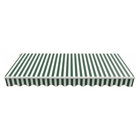 BIRCHTREE Awning Fabric Top Cover 2 x 1.5m AC01 Green & White