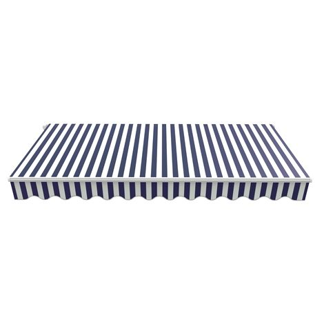 BIRCHTREE Awning Fabric Top Cover 3.5 x 2.5m AC04 Blue & White