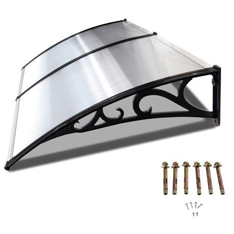 BIRCHTREE Door Canopy Black Frame 190cm x 100cm