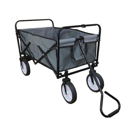 BIRCHTREE Foldable Garden Trolley GTF01 Grey