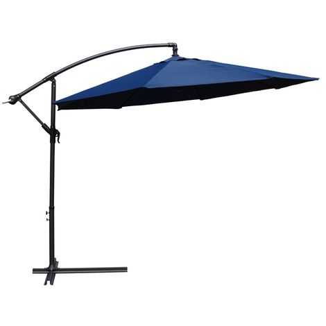 BIRCHTREE Garden Parasol Sun Shade Umbrella 3m Blue
