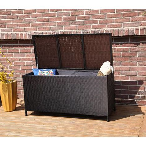 BIRCHTREE Garden Rattan Storage Box RSB01 Brown