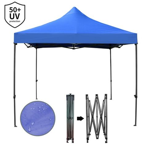 BIRCHTREE Heavy Duty Pop Up Gazebo 3X3M No Side PUG03 Blue