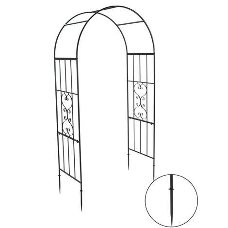 BIRCHTREE Metal Garden Arch BT-MGA02 Black