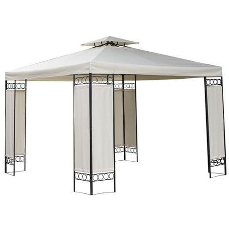 BIRCHTREE Pavilion Gazebo 3m x 3m x 2.6m Beige Waterproof G006A